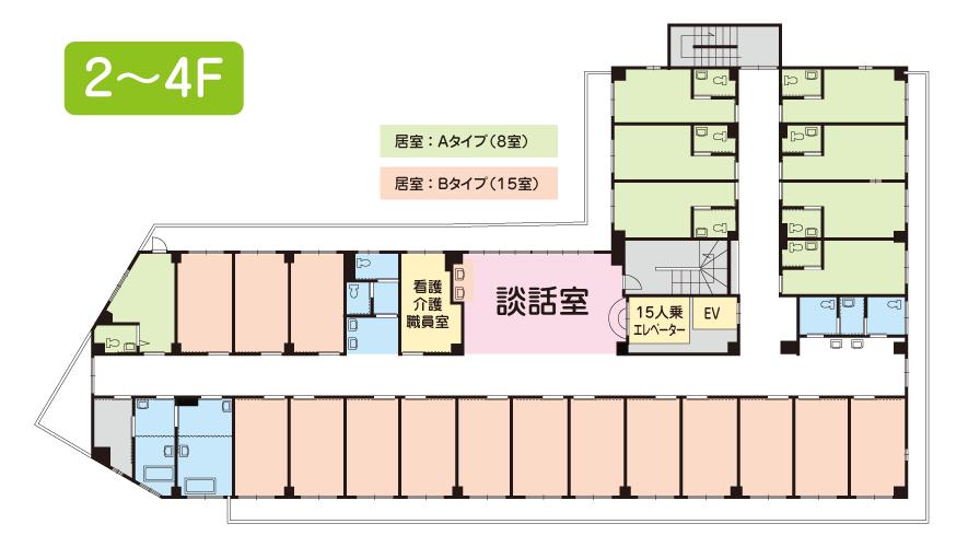 プライムガーデン秦野2〜4F間取図